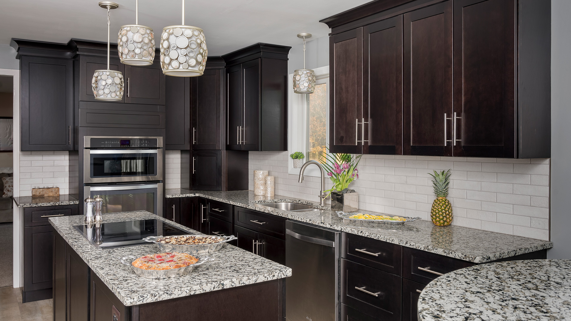 Espresso Kitchen Cabinets Gold Hardware