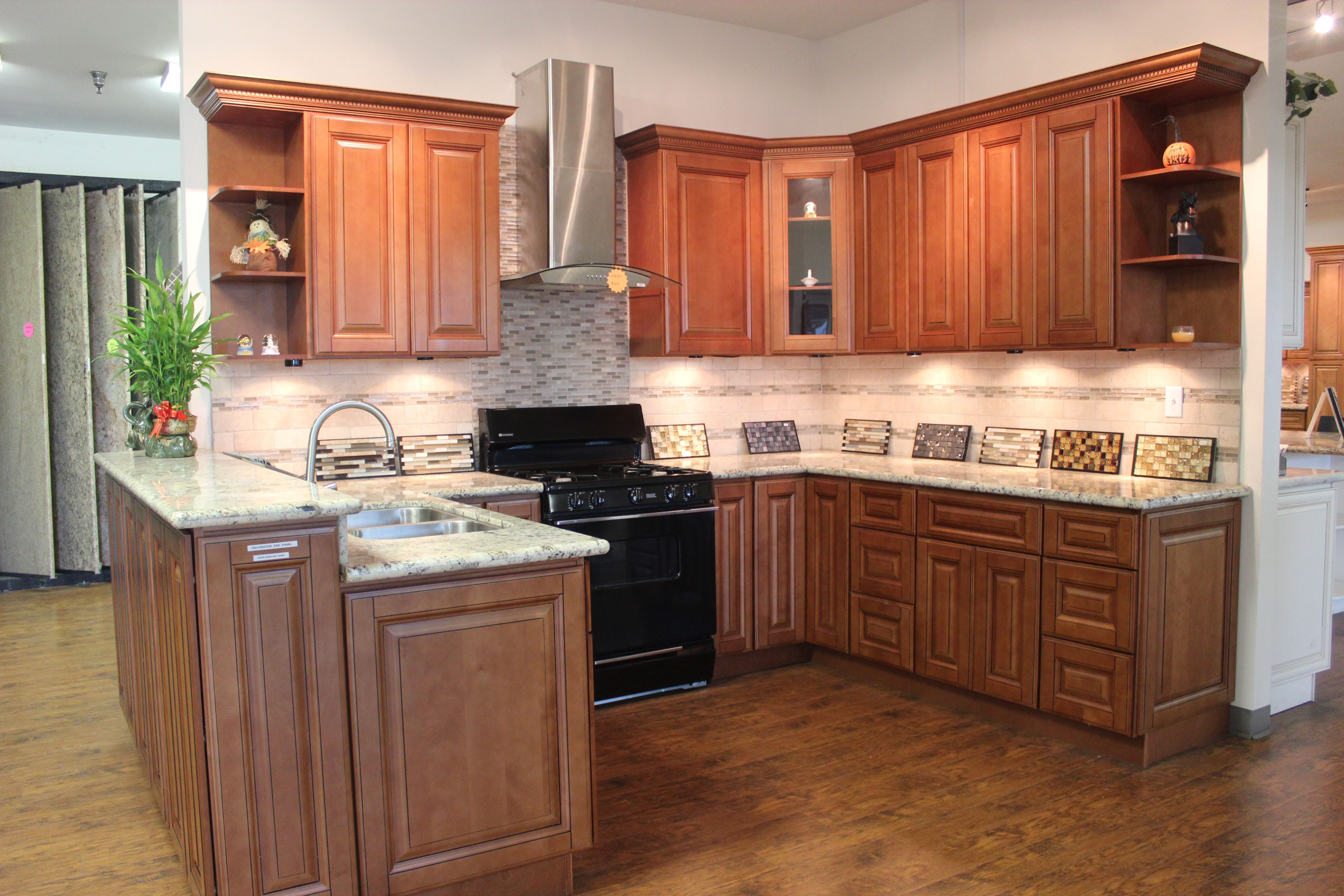 Mocha maple cabinets Kitchen and bath design center lake hopatcong nj
